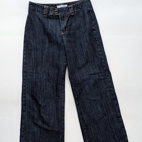 Chico's Denim - Chicos Black Platinum Jeans Slacks Flat Front